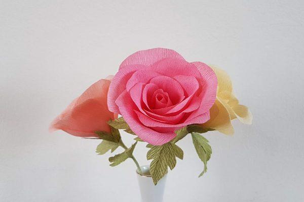 workshop papieren rozen