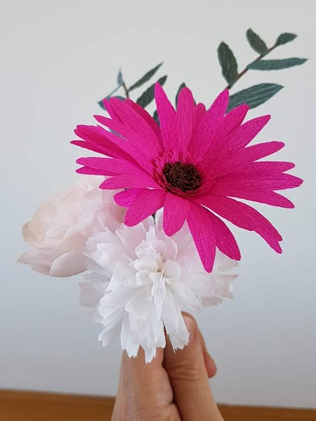 hooikoorts papieren bloemen