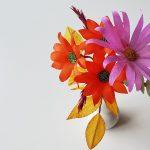 creatieve workshop papieren bloemen herfstboeket