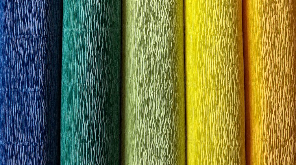 nieuwe kleuren crêpepapier
