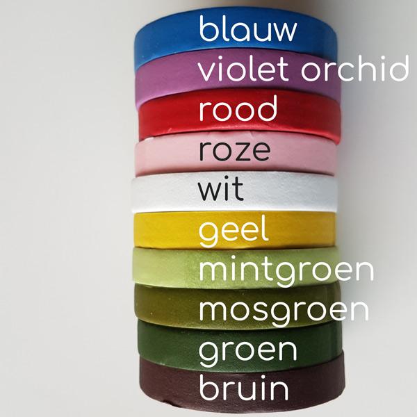 bloementape-kleuren-namen