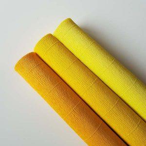 florist crêpepapier combipack geel-oranje