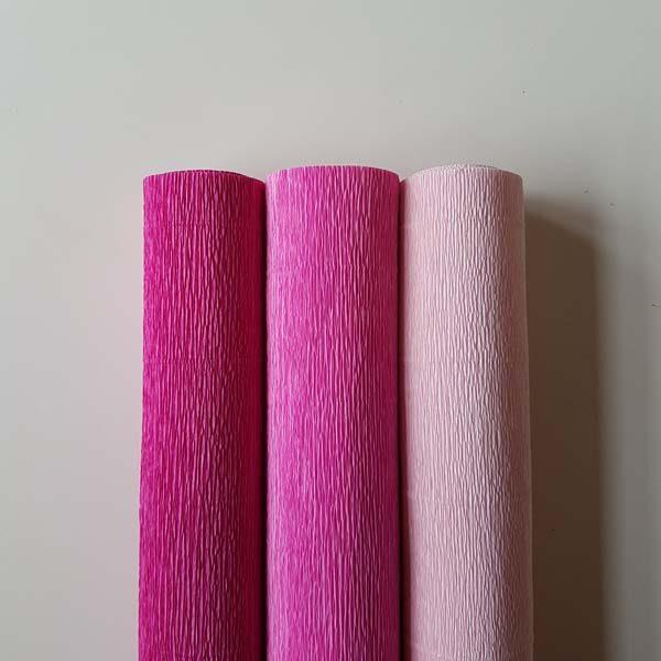 florist crêpepapier combipack roze