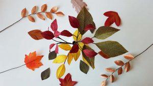 herfstbladeren van crêpepapier diy tutorial