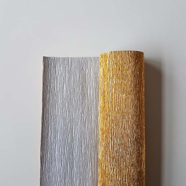 metallic florist crêpepapier antico gold