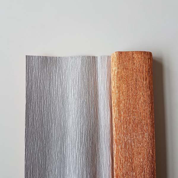 metallic florist crêpepapier copper
