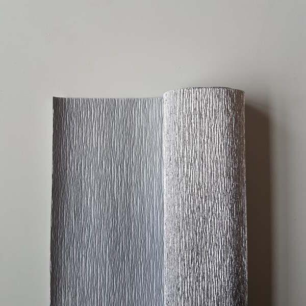 metallic florist crêpepapier zilver