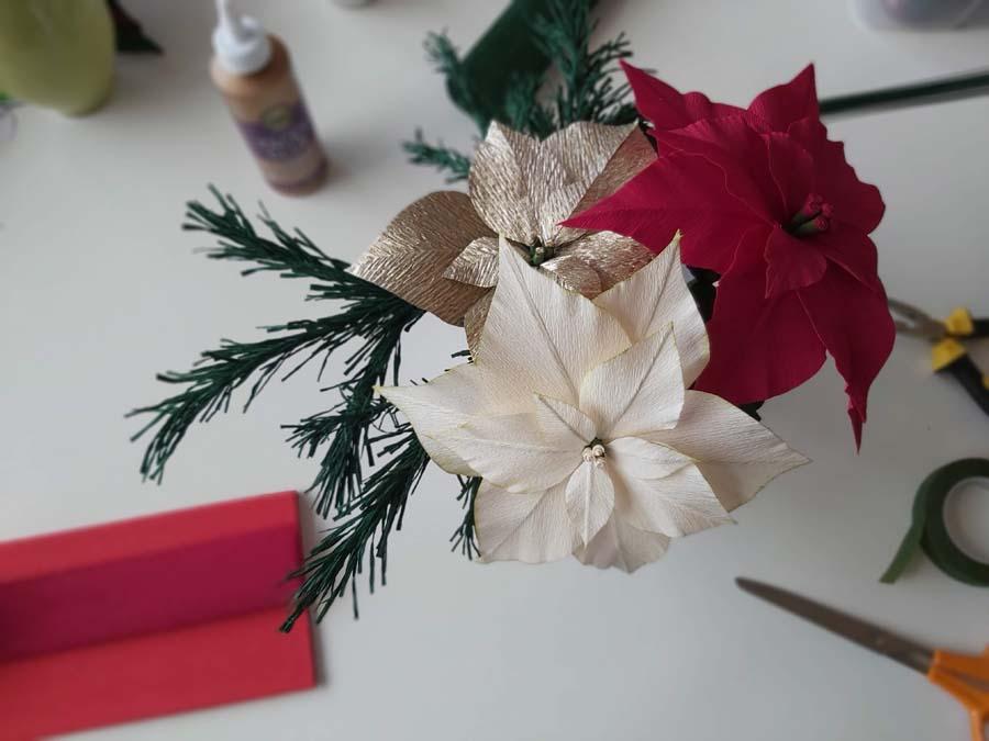 Dennentak van Florist crêpepapier