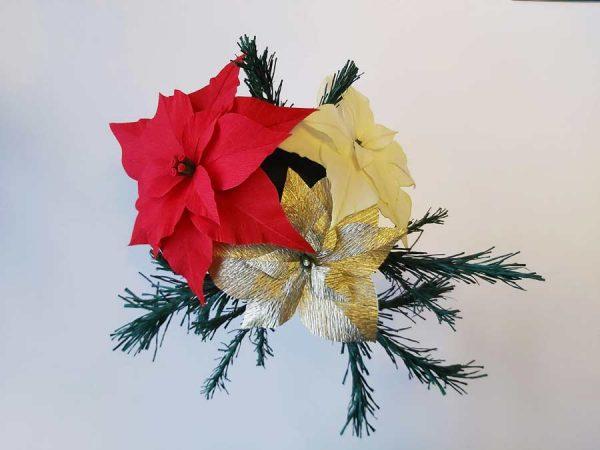 Kerstster van crêpepapier - Tutorial met sjabloon