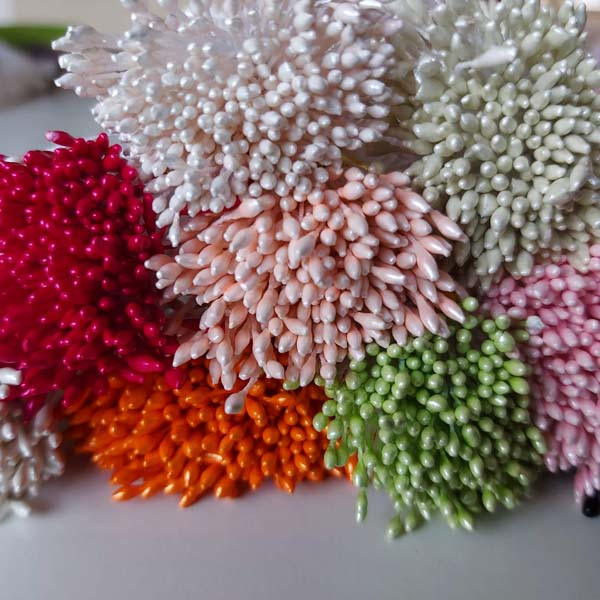 meeldraad meeldraden diverse kleuren papieren bloemen