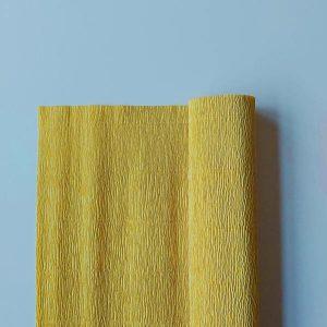 florist crêpepapier 579 yellow mustard