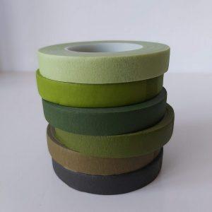 bloementape mix groen 6 rollen
