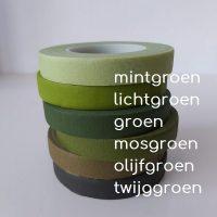 bloementape mix groen 6 rollen namen