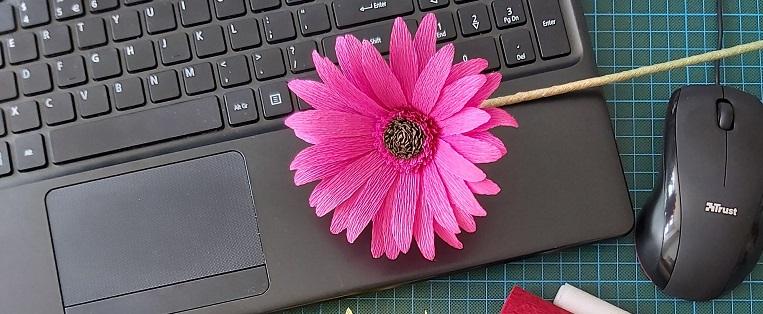 header online workshop papieren bloemen maken