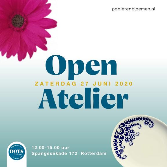 open atelier 27 juni dots design papieren bloemen square