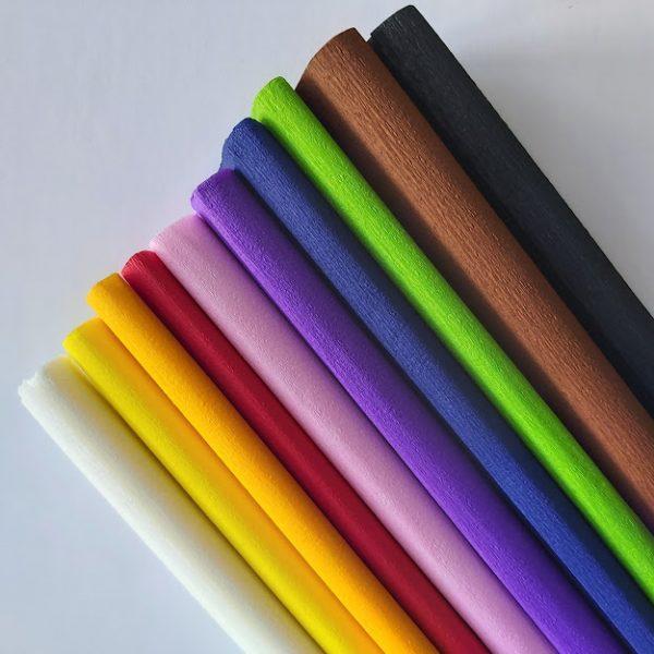 combipack 40 grams crêpepapier 10 kleuren