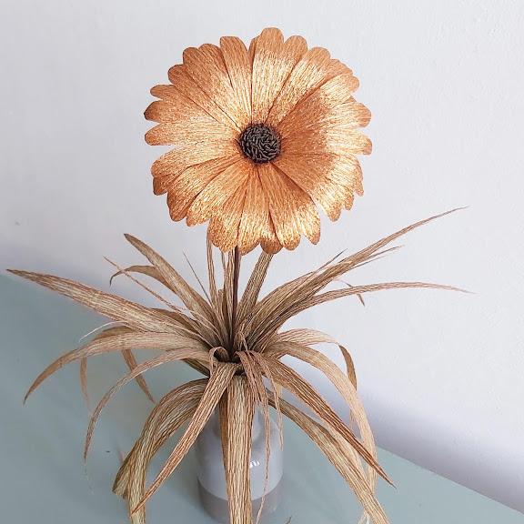 gerbera florist metallic crepepapier