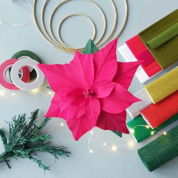 kerst crêpepapier en voordeelsets