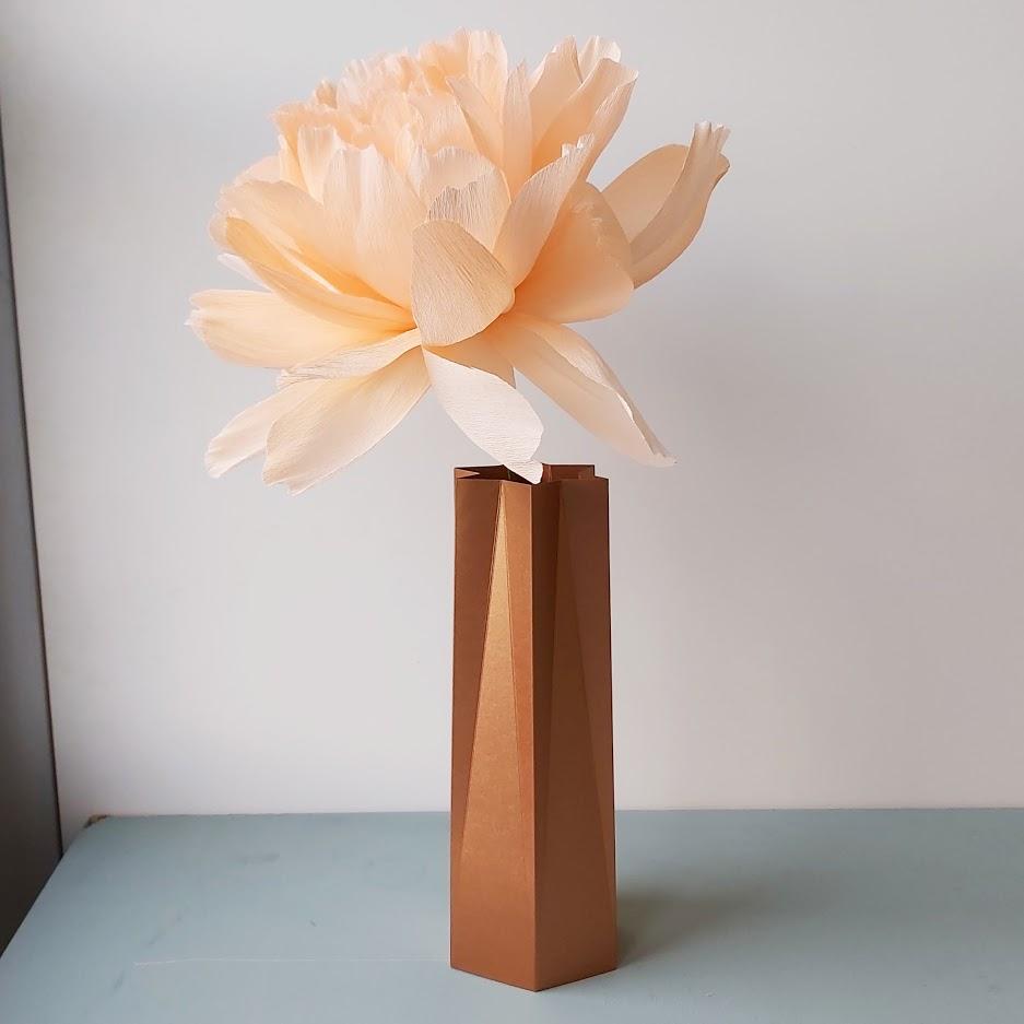 papieren vaas woondecoratie papieren bloemen