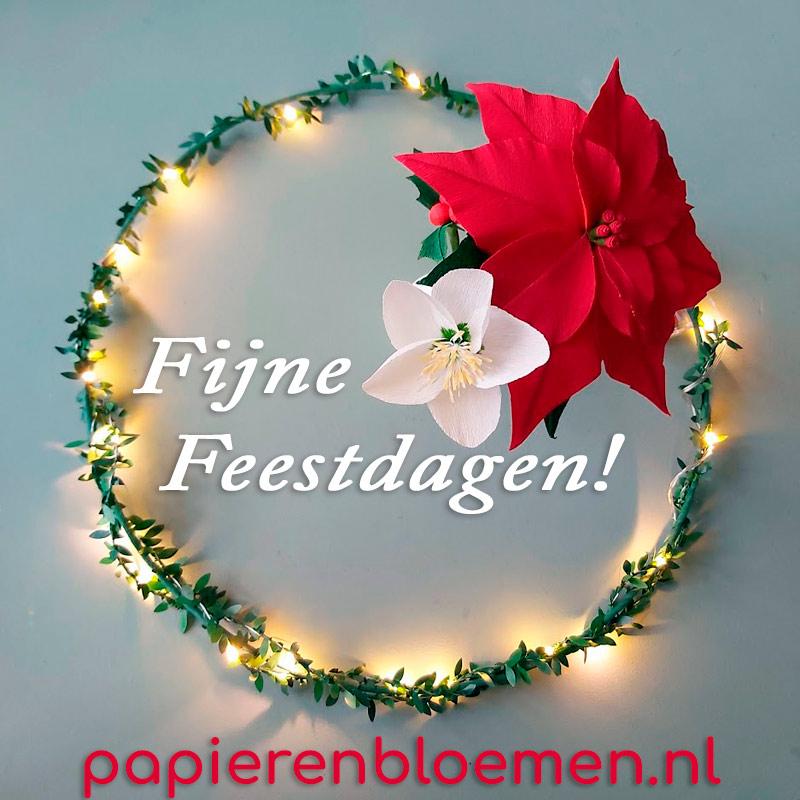 fijne-feestdagen-papieren-bloemen