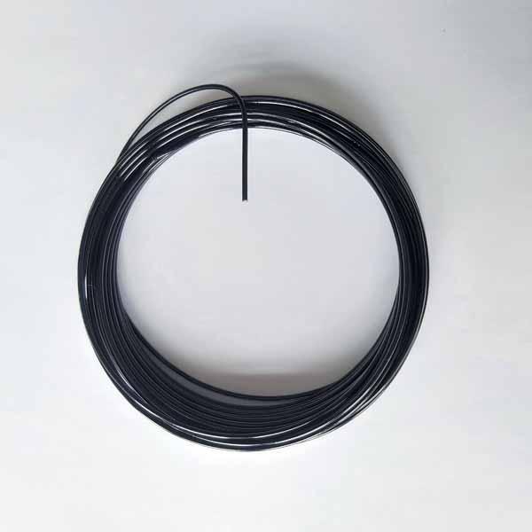 aluminiumdraad 2mm x 12 mtr zwart